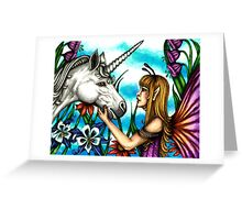 Fairy and Unicorn in Color Greeting Card