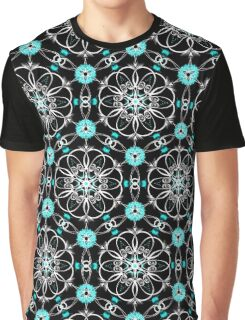 Psychedelic Pattern, Ornament, Mandala, Design, Art, Flower, Fantasy, Magic, Geometry, Black Graphic T-Shirt