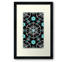 Psychedelic Pattern, Ornament, Mandala, Design, Art, Flower, Fantasy, Magic, Geometry, Black Framed Print