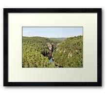 Baron Canyon - Algonquin Park Framed Print