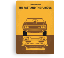 No207 My The Fast and the Furious minimal movie poster Canvas Print