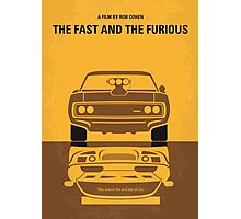No207 My The Fast and the Furious minimal movie poster Photographic Print