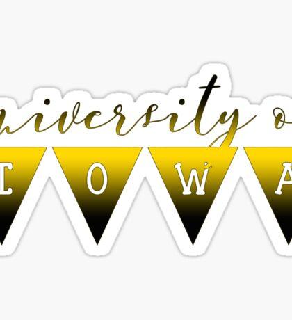 University of Iowa Ribbon Banner Sticker