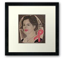 An American actress and cancer spokesperson Framed Print