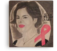 An American actress and cancer spokesperson Canvas Print