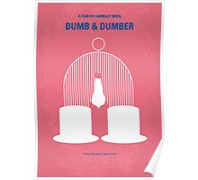 No241 My Dumb & Dumber minimal movie poster Poster