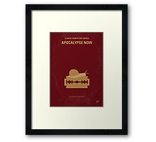 No006 My Apocalypse Now minimal movie poster Framed Print