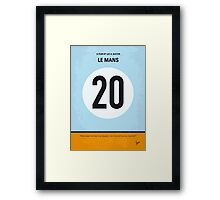 No038 My Le Mans minimal movie poster Framed Print