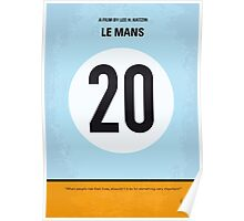 No038 My Le Mans minimal movie poster Poster