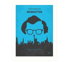 No146 My Manhattan minimal movie poster Art Print