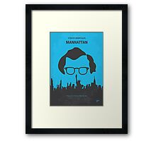 No146 My Manhattan minimal movie poster Framed Print