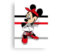 AIR JORDAN MINNIE Canvas Print