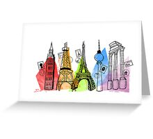Europe - Capital Cities Greeting Card