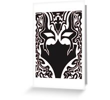 Red Mask Greeting Card