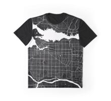 Vancouver - Minimalist City Map Graphic T-Shirt