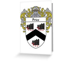 Price Welsh Coat of Arms / Price Welsh Family Crest Greeting Card