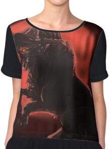 Blood Moon Chiffon Top