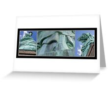 Lady Liberty Collage Greeting Card