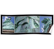Lady Liberty Collage Poster