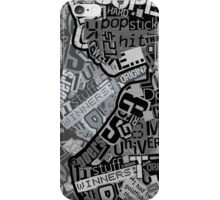Typography Grayscale iPhone Case/Skin
