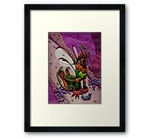 Alien Furry Framed Print