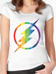 The Flash Pride Women's Fitted Scoop T-Shirt