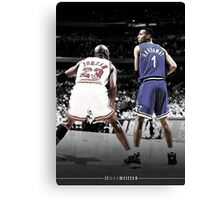 Michael Jordan & Penny Hardaway - It Was Written Canvas Print