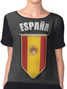 Spain Pennant with high quality leather look Chiffon Top