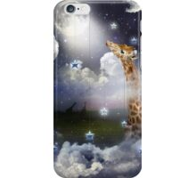 Shoot For The Moon (Giraffe In The Clouds) iPhone Case/Skin