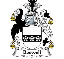 Boswell Coat of Arms / Boswell Family Crest Photographic Print