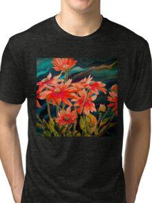Tbee Paint - Under Water Garden Tri-blend T-Shirt