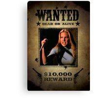 Buffy Harmony Wanted 2 Canvas Print