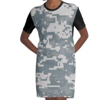 Digital Camouflage Graphic T-Shirt Dress