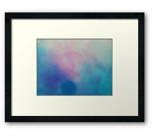 Shades of Blue and Pink Framed Print