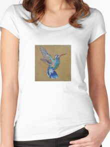Turquoise Hummingbird Women's Fitted Scoop T-Shirt