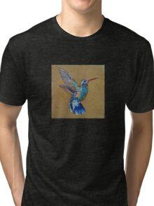 Turquoise Hummingbird Tri-blend T-Shirt