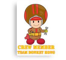 Team Donkey Kong crew member Canvas Print