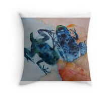 The Multiple Lives of Frogs Throw Pillow
