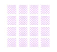 Lilac Polka-Dot Hatched Pattern by SENOVI