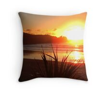 Punakaiki Sunset Throw Pillow