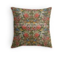 Pretty. Odd Northern Downpour lyric Panic! at the disco Throw Pillow
