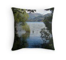 Shallows Of Lake Wanaka Throw Pillow