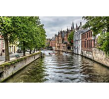 The Groenerei Canal in Bruges (Belgium) Photographic Print