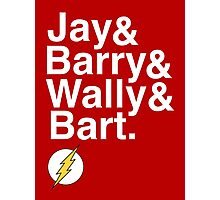 """""""Jay and Barry and Wally and Bart"""" Flash T-shirt and more Photographic Print"""