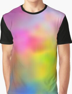 Rainbow Abstract Sky Graphic T-Shirt