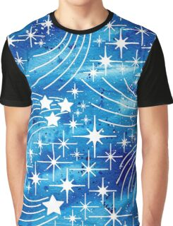 Watercolor night sky with stars Graphic T-Shirt