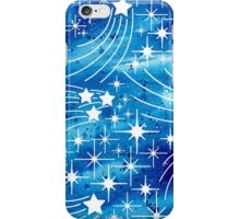 Watercolor night sky with stars iPhone Case/Skin