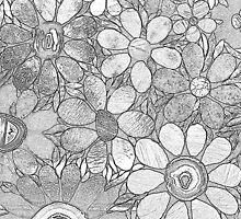 Drawn Garden of Flowers - Mosaic by WonderMeMosaics