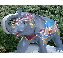 Elephant Statue Standing Guard Photographic Print