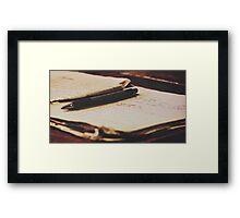 Spilled ink Framed Print